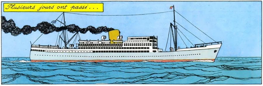 """Résultat de recherche d'images pour """"paquebot """"Thysville"""" carte postale d'Hergé photo"""""""