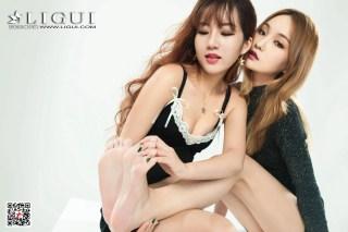 [丽柜Ligui] Model 汐汐&蕊蕊 《玫瑰丝足诱惑》 写真集[75P] | Page 1/5