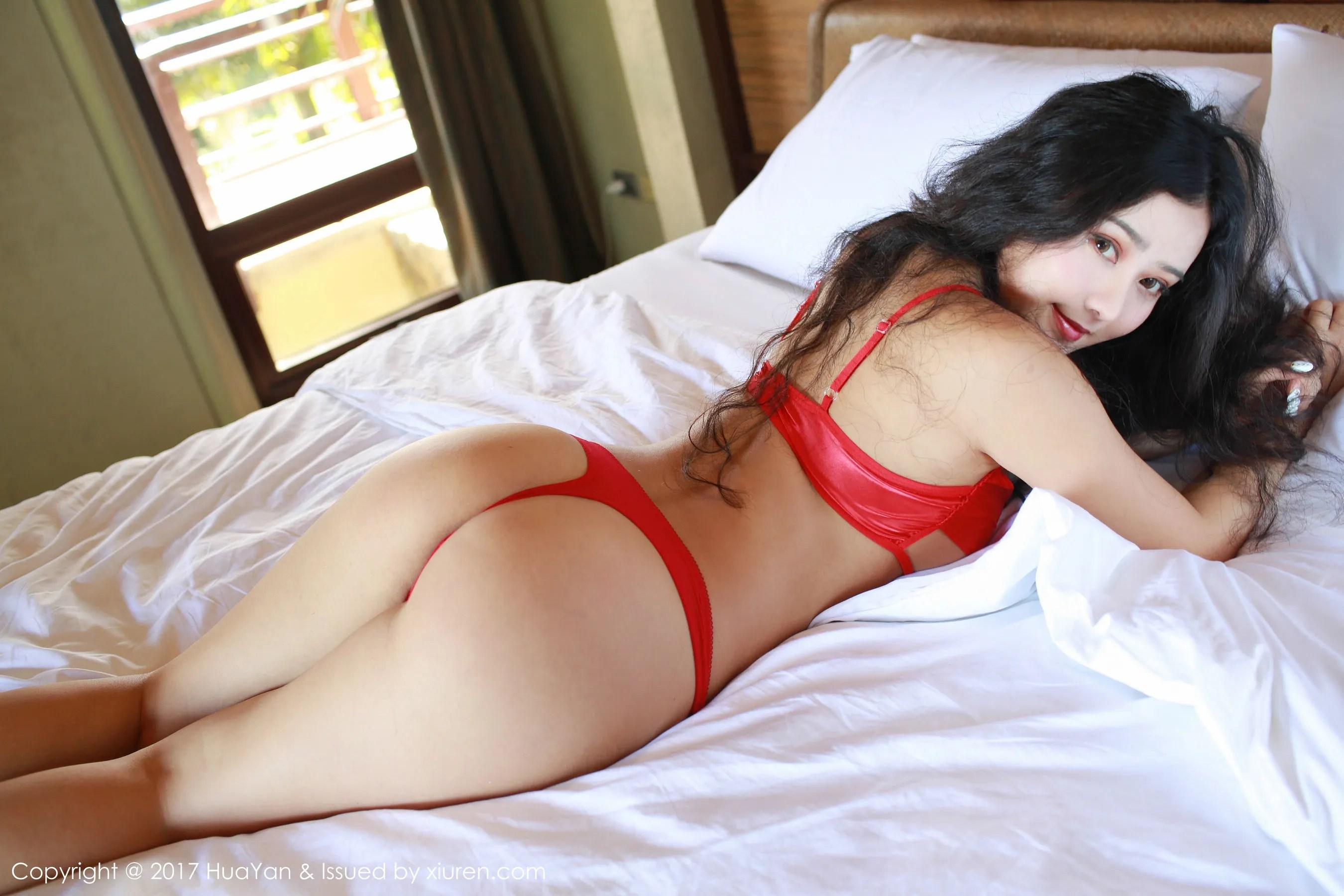 图片[11] - Manuela玛鲁娜《衬衫湿身+红色丁字裤》 [花の颜HuaYan] VOL.028 写真集[35P] - 唯独你没懂