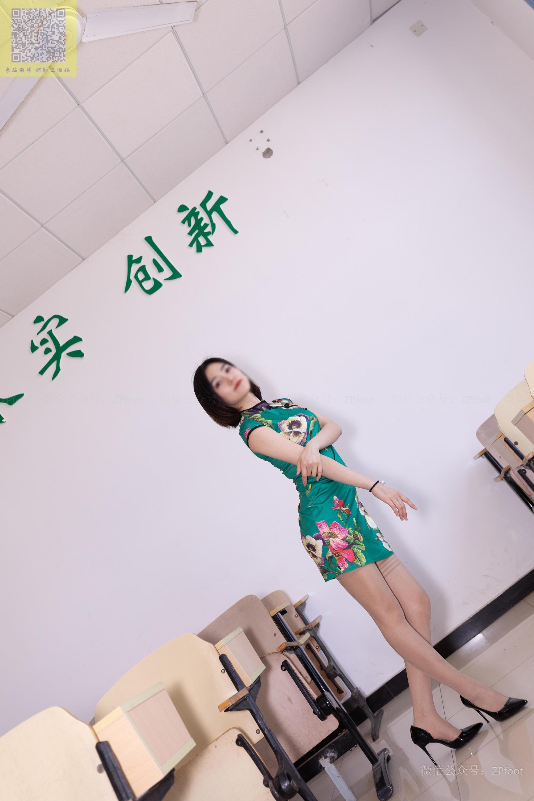图片[11] - [山茶摄影LSS] NO.089 小阳阳的旗袍筒袜 写真套图[99P] - 唯独你没懂