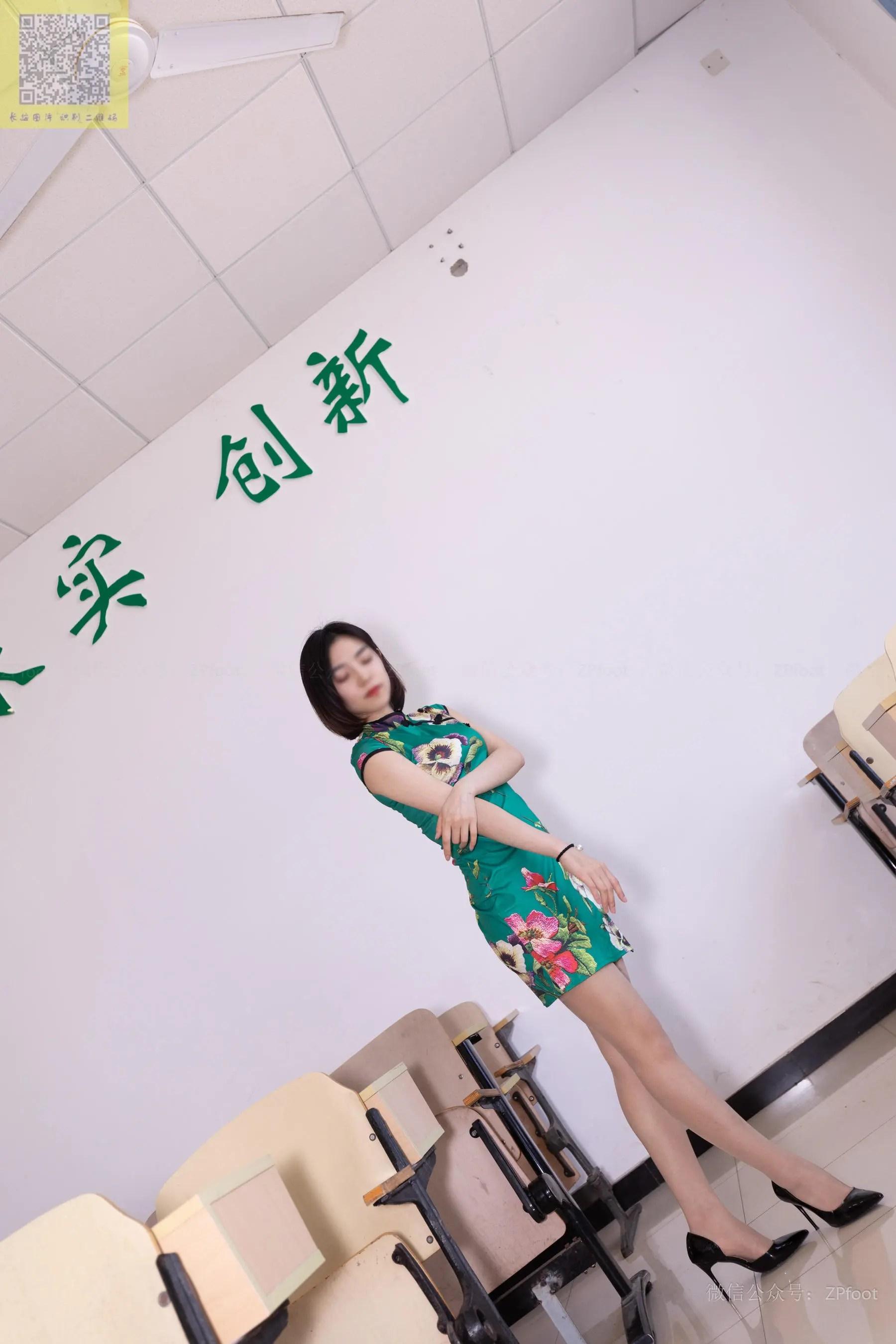 图片[10] - [山茶摄影LSS] NO.089 小阳阳的旗袍筒袜 写真套图[99P] - 唯独你没懂