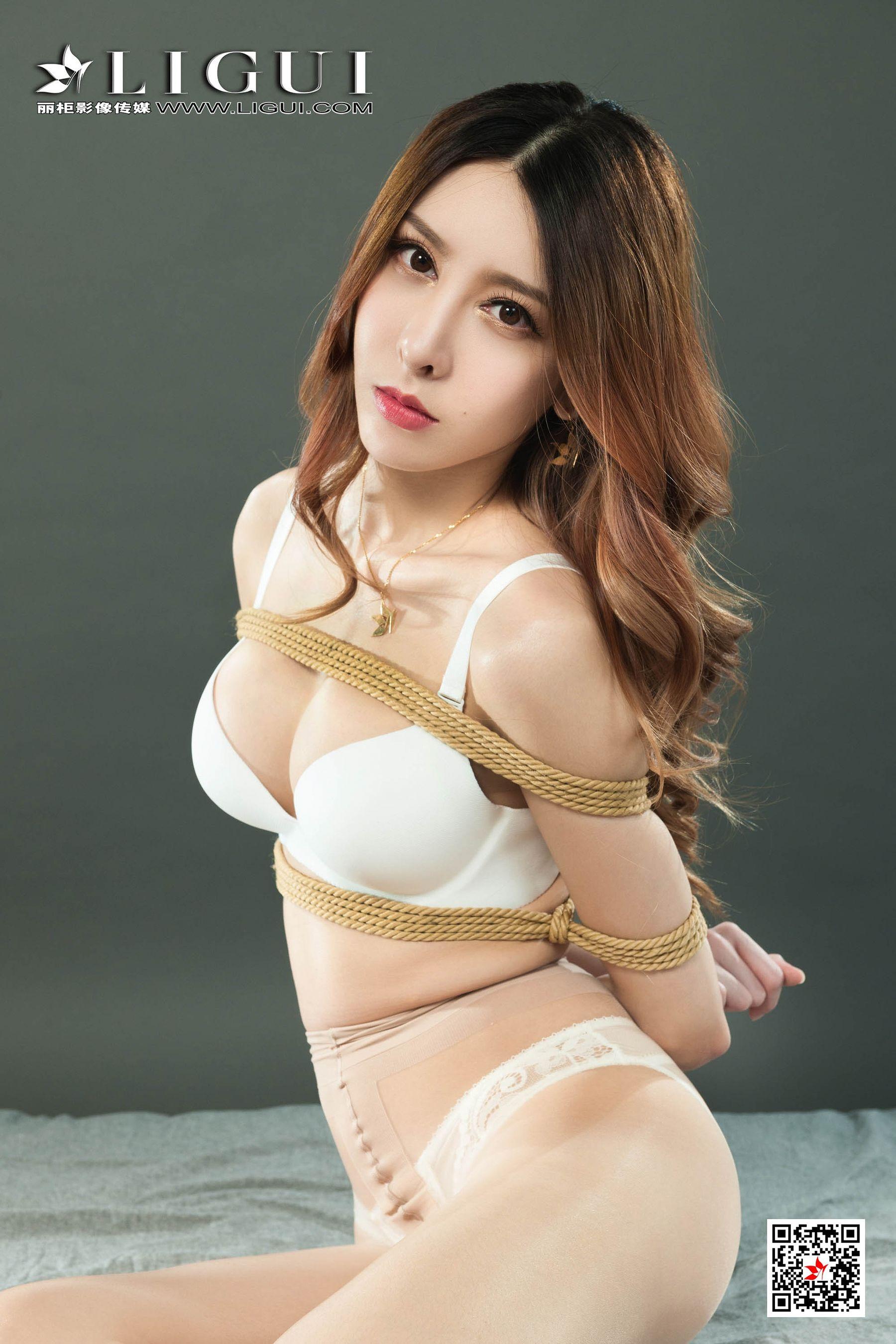 图片[10] - [丽柜美束Ligui] Model 兔子《肉丝捆绑绳艺》 写真集[74P] - 唯独你没懂