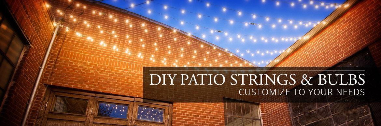 DIY - Patio Strings and Bulbs - Yard Envy on Backyard String Lights Diy  id=94581