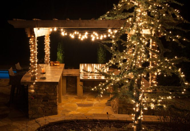 Hanging Right Christmas Tree Lights Gorgeous Branches And Small For Outdoor Room