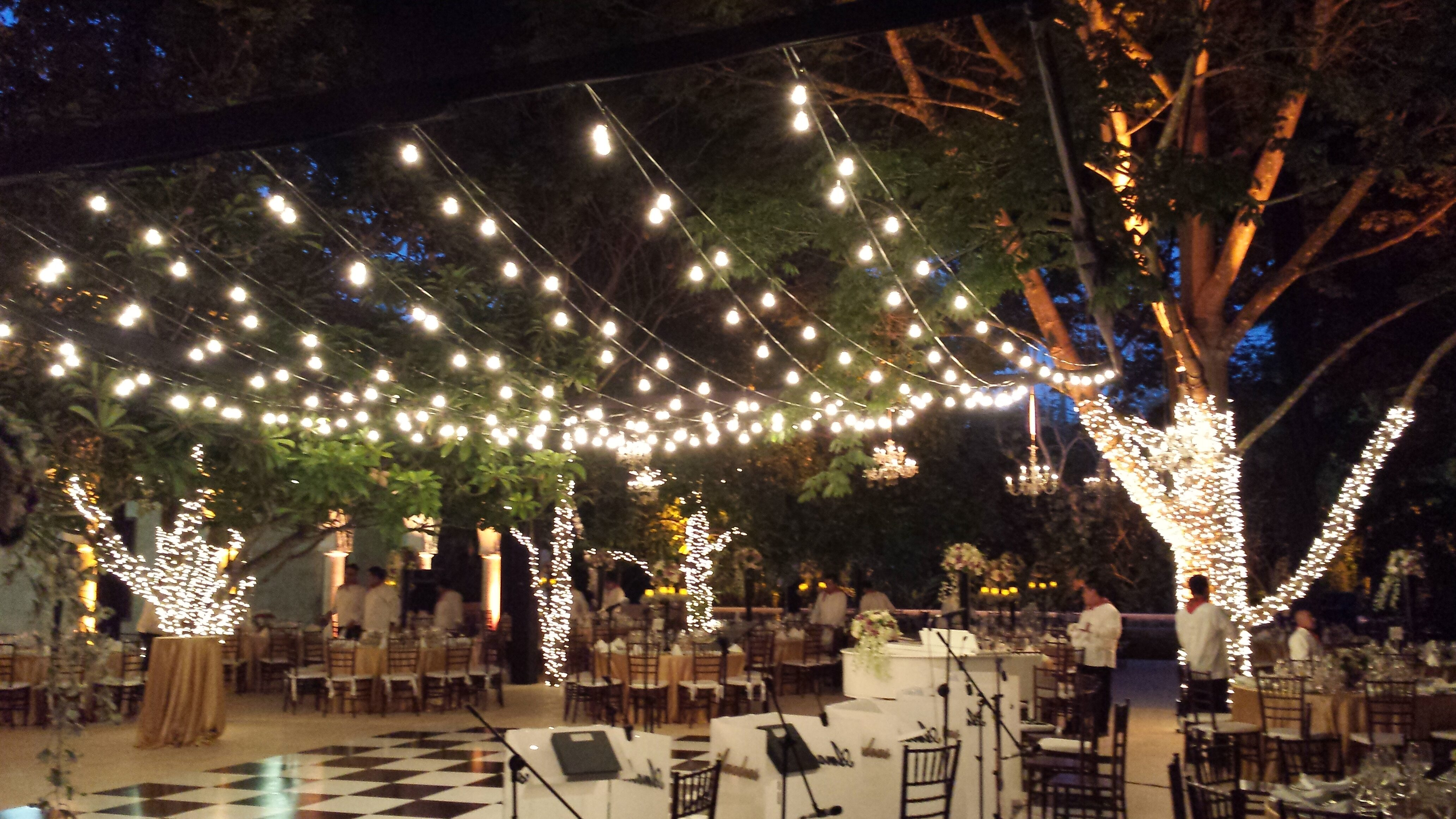 Hanging Patio String Lights: A Pattern of Perfection ... on Backyard String Light Designs id=62926