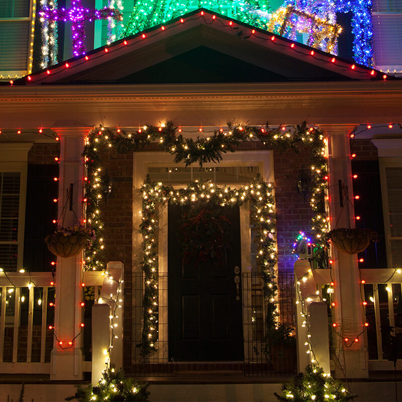 Outdoor Christmas Decorating Ideas - Yard Envy on Patio Decorating Ideas With Lights  id=67116