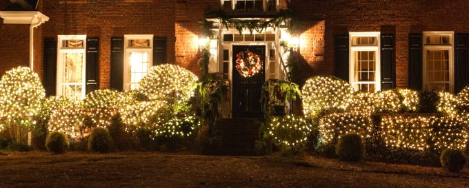 how to string outdoor christmas lights on bushes christmaswalls co