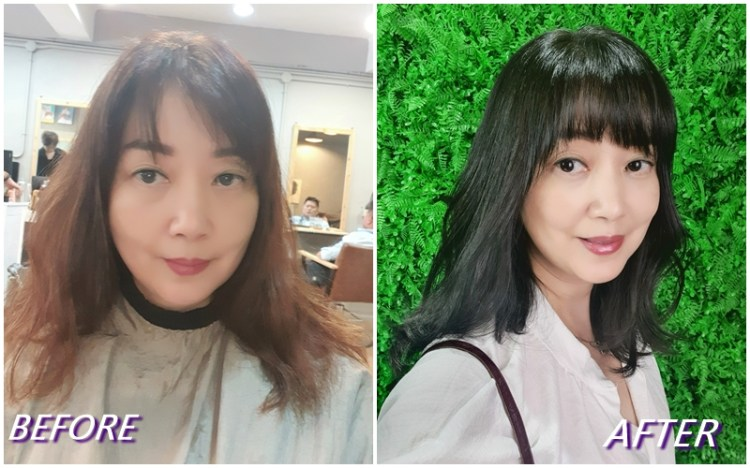 【永和美髮推薦-時光藝廊 time hair salon】資深設計師NICO今夏為我染的新髮色〜橄欖亞麻綠 質感清新又帶點知性美