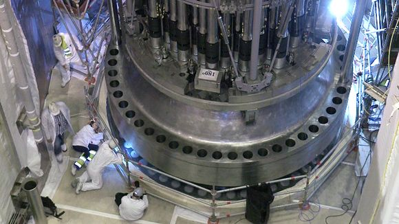 Olkiluoto 3 -reaktorin asennustöitä heinäkuussa 2014.