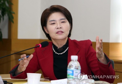 Rep. Han Jeoung-ae of the main opposition Democratic Party (Yonhap)