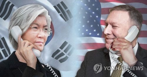 Hasil gambar untuk S. Korean foreign minister and Pompeo hold phone talks