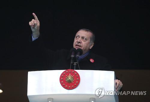 """터키대통령 """"러 대사 살해범, 귈렌 추종자"""""""