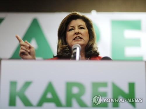 공화당의 캐런 핸들 후보