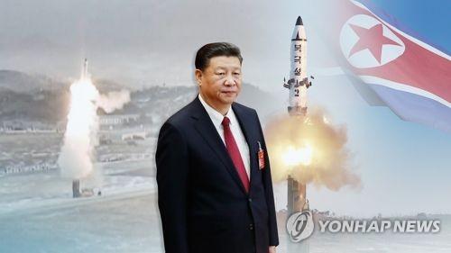미중정상회담 앞둔 中시진핑, 또 北탄도미사일 도발에 '곤혹'(CG)