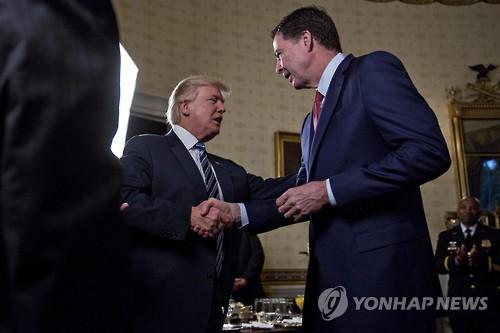 도널드 트럼프(왼쪽) 미국 대통령과 제임스 코미 전 美FBI국장