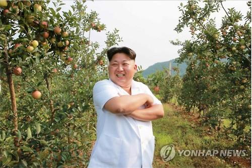 Kim Jong-un inspects fruit farm