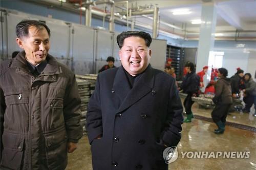 N.K. leader visits military's fishery base