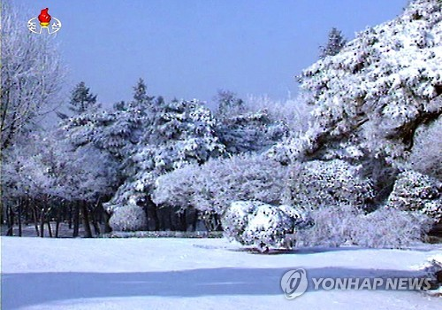 Snow in North Korea