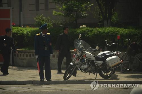 Traffic control in Pyongyang