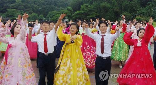 Dance party in Pyongyang
