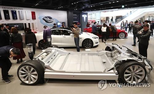 Tesla opens its first showroom in Korea