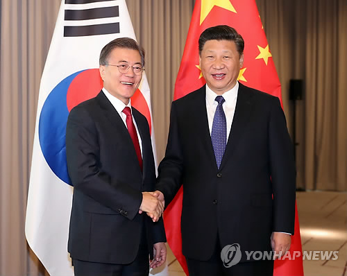 Leaders of S. Korea, China meet in Berlin