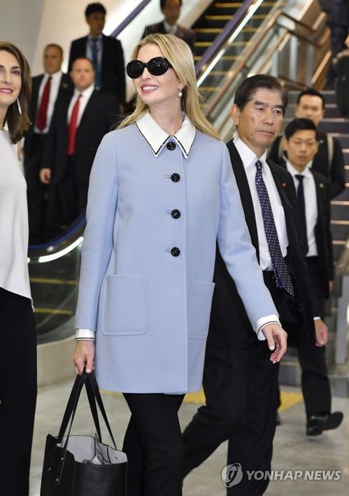 트럼프 대통령 장녀 이방카, 일본 도착