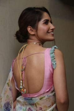 Ruhani Sharma Hot In Saree1