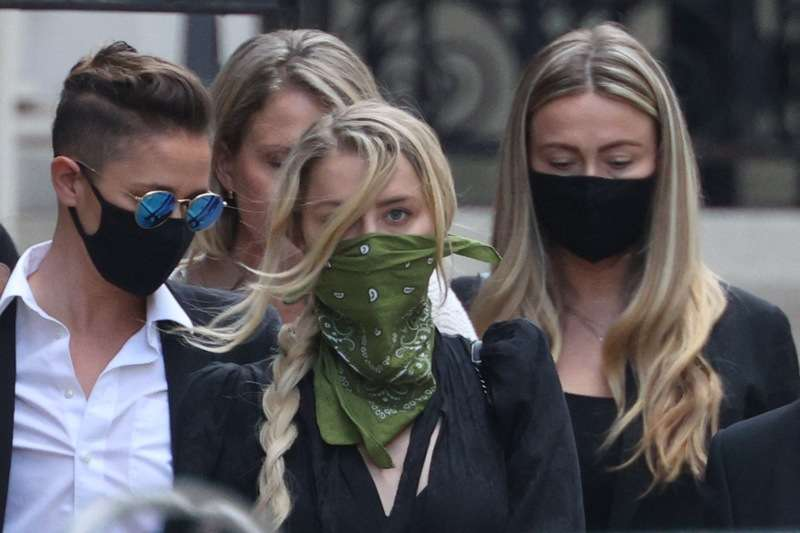 Photos Of Amber Heard Leaving The High Court In London