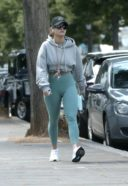 Rita Ora Spotted Wearing A Green Gym Wear In Notting Hill
