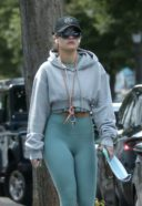 Rita Ora Spotted Wearing A Green Gym Wear In Notting Hill 13