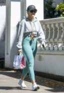 Rita Ora Spotted Wearing A Green Gym Wear In Notting Hill 23