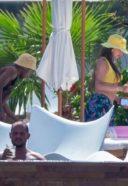 Anastasia Karanikolaou Hot Pics At hotel Pool in Cabo San Lucas, Mexico