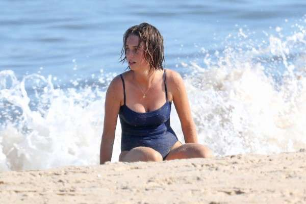 Maya Hawke Hot Bikini Photos At beach in The Hamptons