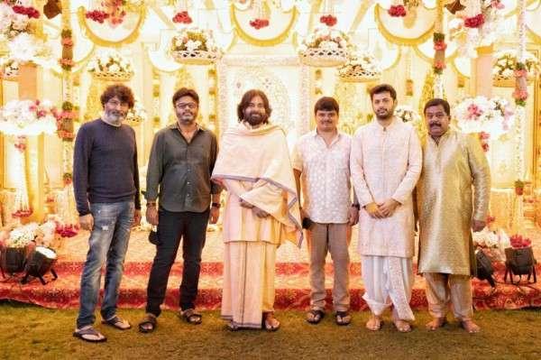 Pawan Kalyan At Nithin Engagement Funtion Photos