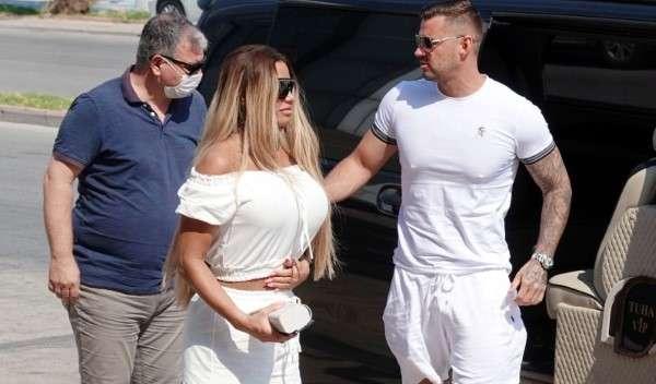 Katie Price AKA Jordan Pictured with boyfriend Carl Woods visiting dentist surgery in Turkey