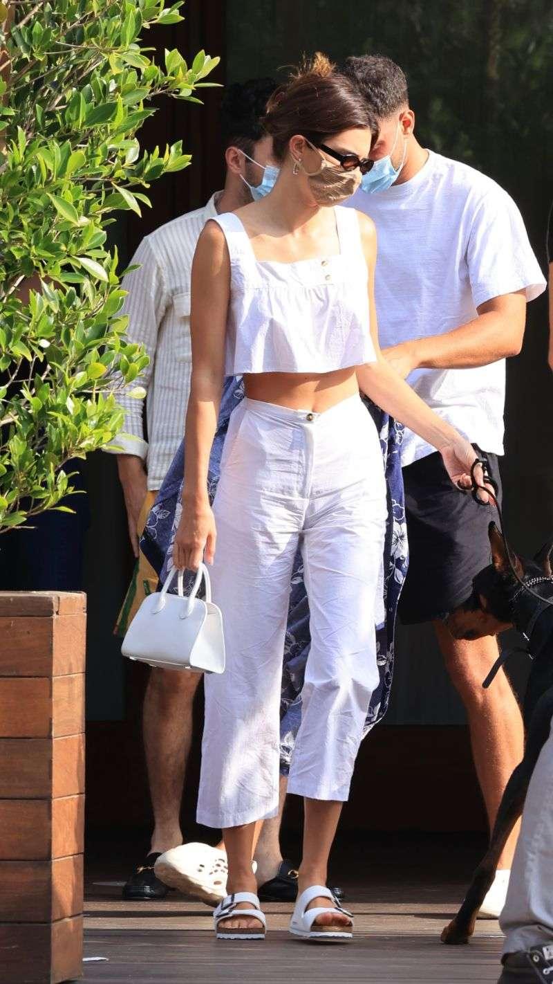 Kendall Jenner celebrates her friend's birthday at Soho House in Malibu