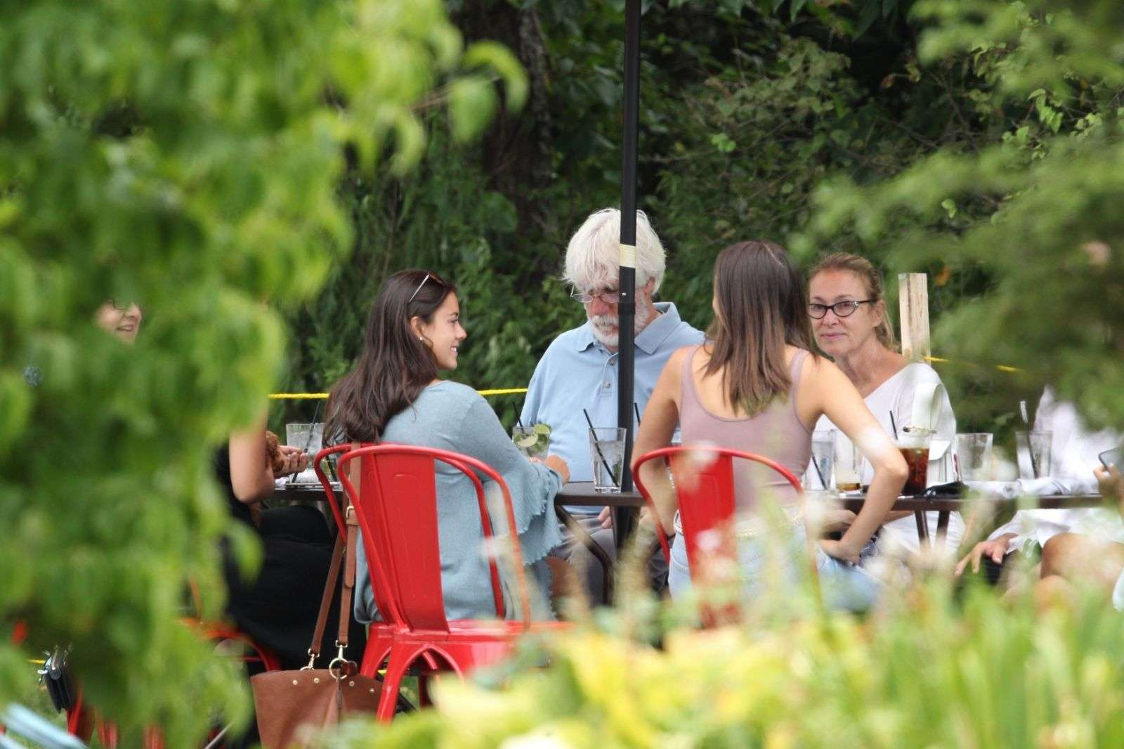 Olivia Culpo seen going to her restaurant Back 40 with her sister in Kingston