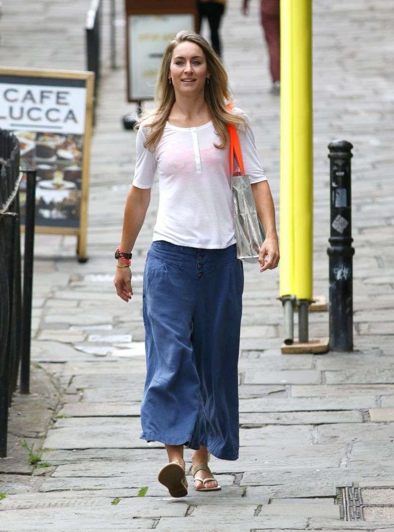 Amy Williams Latest Photos and Images At BA1 Hair salon in her home city of Bath