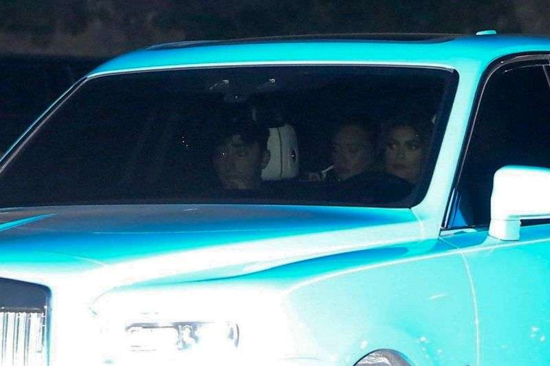 Anastasia Karanikolaou & Kylie Jenner seen out for dinner at Nobu in Malibu California