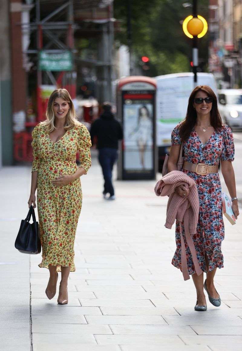 Ashley James heads home from Jeremy Vine show London