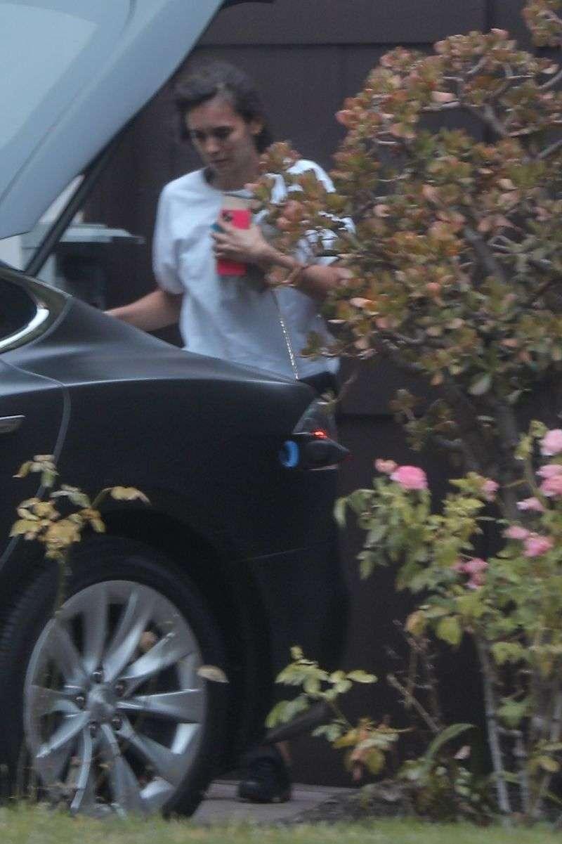 Nina Dobrev seen leaving her house in Los Angeles California