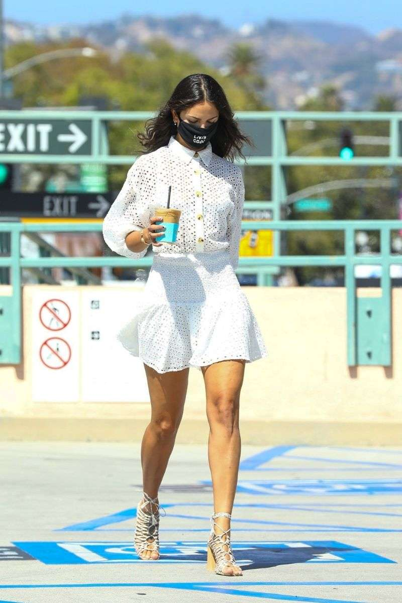 Eiza Gonzalez steps out in a stylish summer outfit for a coffee run at Alfred's in Beverly Hills