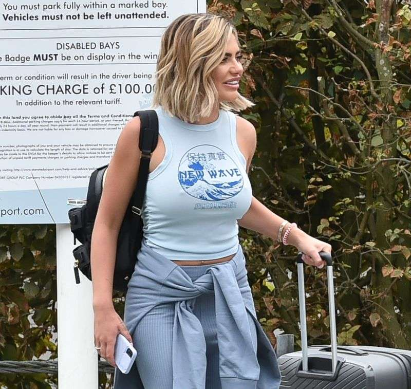 Megan Barton Hanson seen arriving at Stansted airport as she heads to Turkey