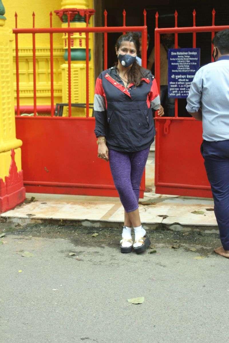 Ekta Kapoor spotted at Mukteshwar temple in juhu