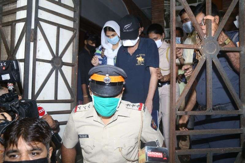 Rhea Chakraborty & brother at Enforcement Directorate office for the interrogation in Sushant Singh Rajput case