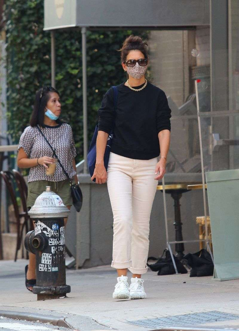 Katie Holmes from the Acne Studios store in Downtown Manhattan