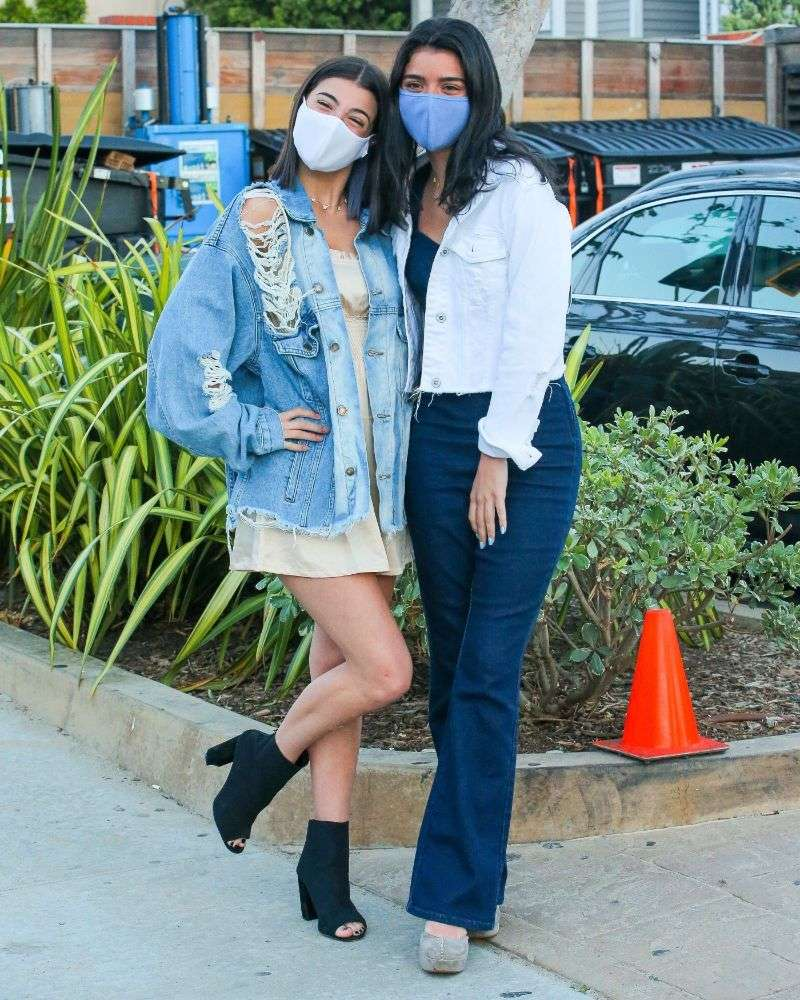 Charli D'amelio & Dixie D'amelio are spotted leaving a family dinner at Nobu in Malibu