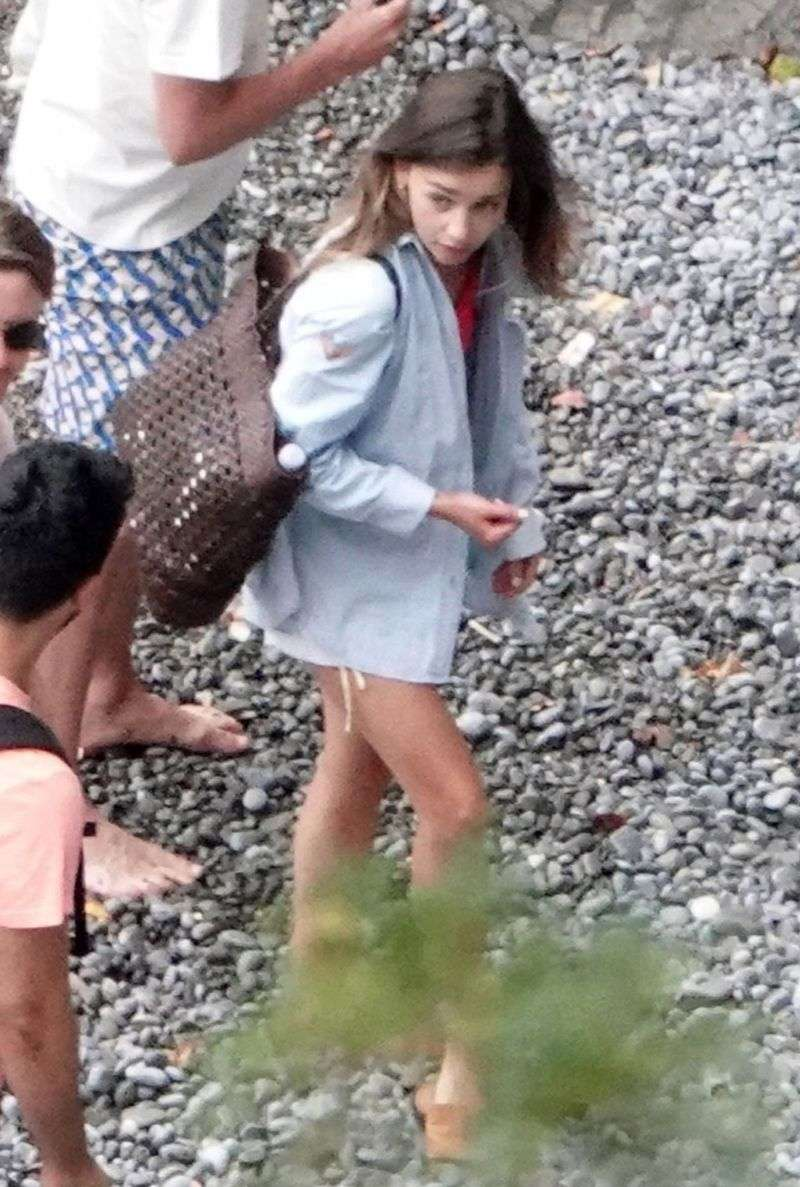 Emilia Clarke spotted on her holiday break out in Positano Italy