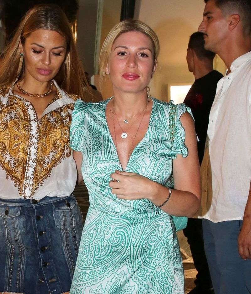 Hofit Golan spotted taking a night stroll out with friends in the alleys of Mykonos Greece
